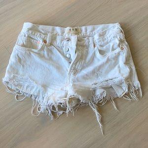 COPY - Free people white denim shorts